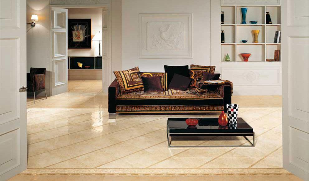 Versace palace beige lappato ceramiche bartoli arce fr - Rivestimenti bagno versace ...
